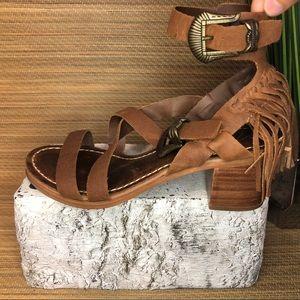 Matisse Fringe Heel Sandal size 8
